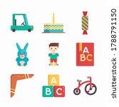 simple set baby elements vector ...