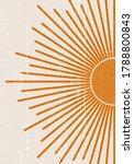 sun print boho minimalist... | Shutterstock .eps vector #1788800843