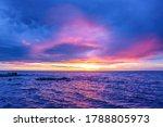 Amazing Vivid Sunset Over Water
