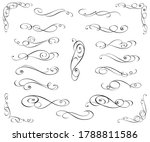 set of decorative elements for...   Shutterstock .eps vector #1788811586