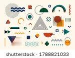 memphis design elements mega... | Shutterstock .eps vector #1788821033