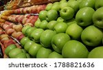 View Of Green And Red Apples...