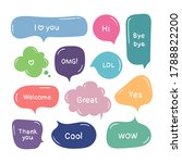 vector set of hand drawn color... | Shutterstock .eps vector #1788822200