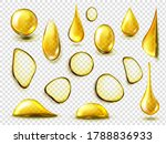 golden drops and stains of oil... | Shutterstock .eps vector #1788836933