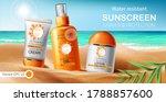 set of sunscreen cream  lotion...   Shutterstock .eps vector #1788857600