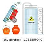 Set Of Gas Cylinder Vector Tan...