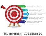 dartboard arrows hitting target ...   Shutterstock .eps vector #1788868610