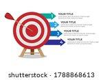 dartboard arrows hitting target ...   Shutterstock .eps vector #1788868613
