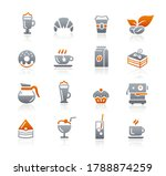 coffee shop icons    graphite... | Shutterstock .eps vector #1788874259