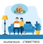 young man and woamn using a...   Shutterstock .eps vector #1788877853