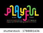 playful style font design ... | Shutterstock .eps vector #1788881636
