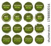 vegan logo collection. set of... | Shutterstock .eps vector #1788883016