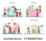 volunteer set. charity... | Shutterstock .eps vector #1788885566