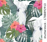 summer seamless pattern with... | Shutterstock .eps vector #1788892913