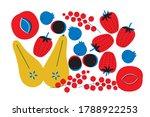 fruits fresh set vector. summer ... | Shutterstock .eps vector #1788922253