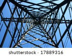 the frame of high voltage... | Shutterstock . vector #17889316