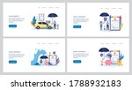 set of insurance web banners of ... | Shutterstock .eps vector #1788932183