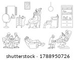women receive beauty care at a...   Shutterstock .eps vector #1788950726