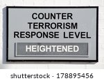 sign stating counter terrorism... | Shutterstock . vector #178895456