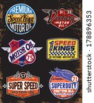 vintage motor oil signs and... | Shutterstock .eps vector #178896353