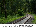 Train Track Passing Inside...