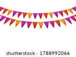 Red Paper Bunting Party Flags...