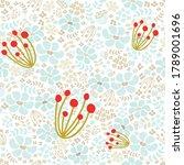 floral seamless pattern flowers ... | Shutterstock .eps vector #1789001696