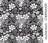 floral seamless pattern ...   Shutterstock .eps vector #1789004450