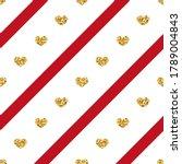 gold heart seamless pattern.... | Shutterstock . vector #1789004843