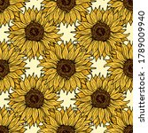 Sunflower Seamless Pattern...