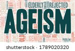 ageism word cloud isolated on a ... | Shutterstock .eps vector #1789020320