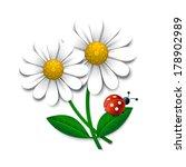 vector flowers with ladybug ...   Shutterstock .eps vector #178902989