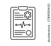 medical clipboard black line... | Shutterstock .eps vector #1789050410