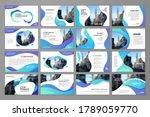 presentation wave templates...   Shutterstock .eps vector #1789059770