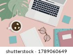 top view of stylish and modern...   Shutterstock .eps vector #1789060649