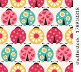 seamless ladybird cartoon...   Shutterstock .eps vector #178910318