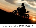 Silhouette Photo Of Biker...