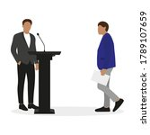 one male character in a... | Shutterstock .eps vector #1789107659