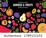 berries and fruits drawing... | Shutterstock .eps vector #1789112153