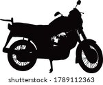 an old fashioned motorcycle...   Shutterstock .eps vector #1789112363