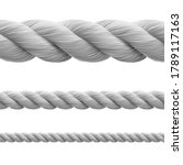 high realistic fiber rope... | Shutterstock .eps vector #1789117163