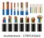 cables and wires realistic... | Shutterstock .eps vector #1789142663