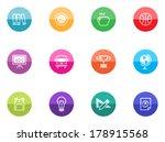 school icon series in color...