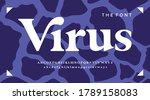 urban alphabet  minimal font....   Shutterstock .eps vector #1789158083