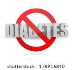 No Diabetes Sign Illustration...