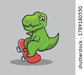 cute t rex dino urban culture...   Shutterstock .eps vector #1789180550