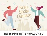 cute characters greeting each... | Shutterstock .eps vector #1789193456