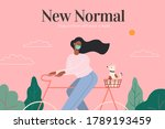 wearing face masks becoming the ... | Shutterstock .eps vector #1789193459