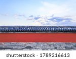 The Red Wall Of The Temple Of...