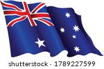 australia flag vector graphic.... | Shutterstock .eps vector #1789227599